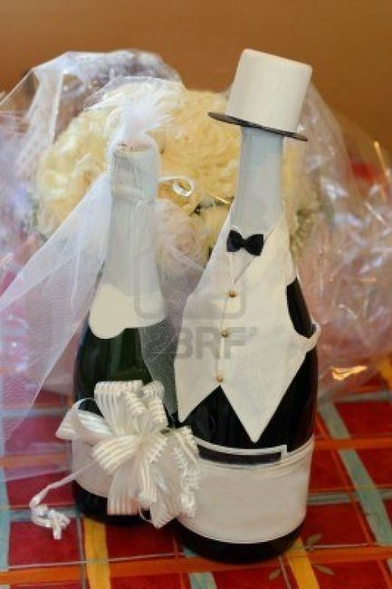 Como decorar botellas de vino para bodas - Imagui