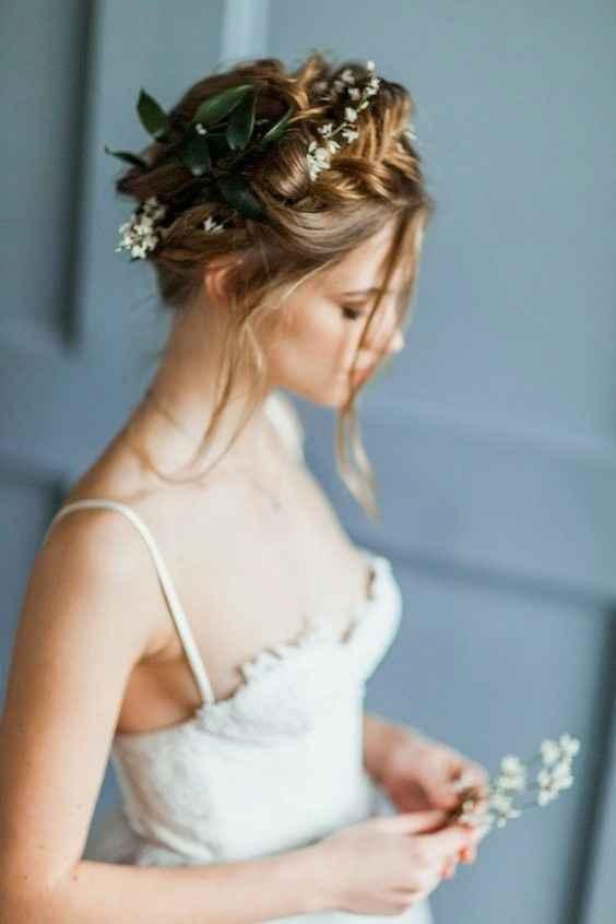 peinados con flores