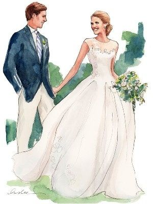 Ilustraciones de boda