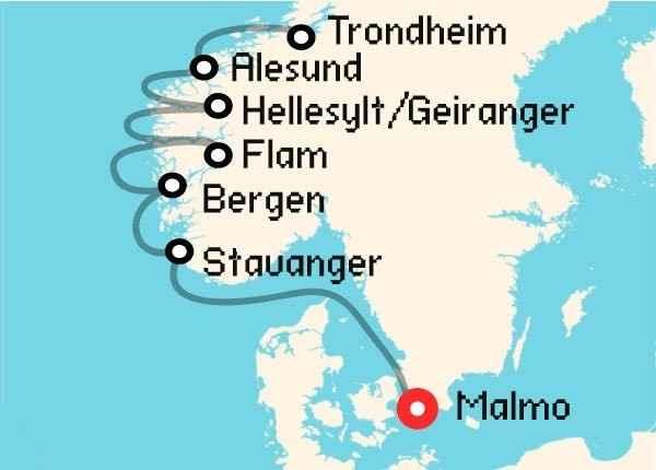 itinerario fiordos