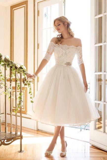 vestido de novia largo vs vestido de novia corto