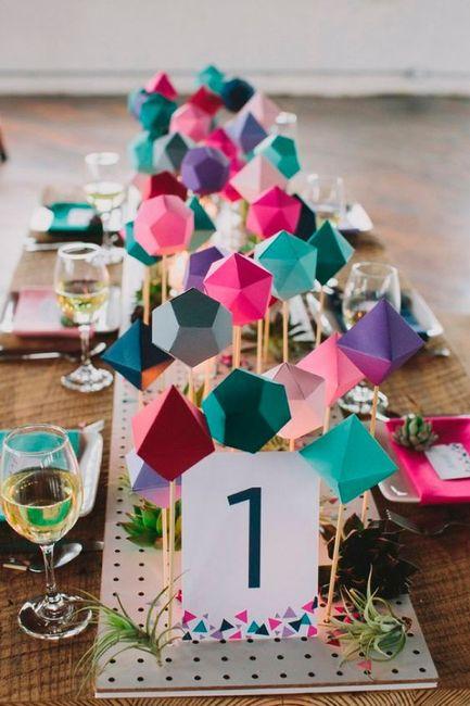 Del 0 al 10 ponle nota a esta decoraci n geom trica banquetes foro - Foro decoracion ...