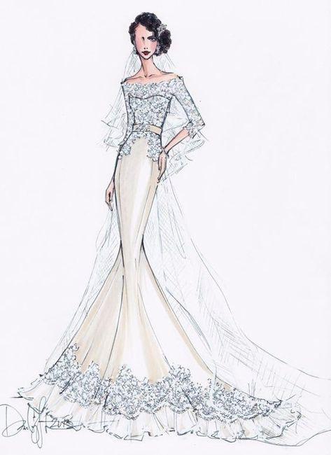 3 bocetos de vestidos de novia: ¿cuál eliges? - moda nupcial - foro