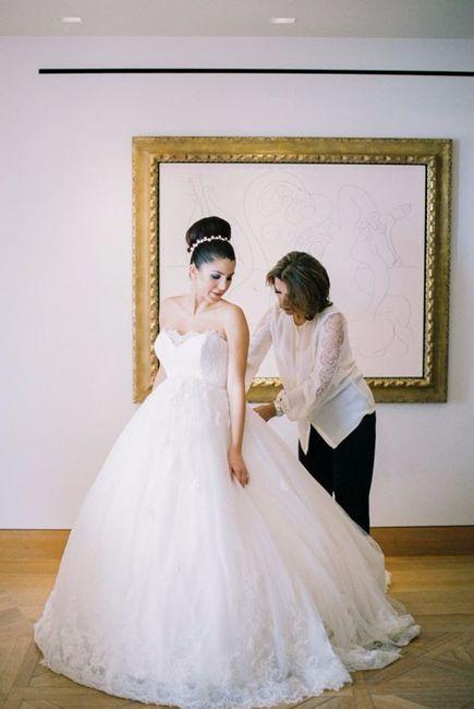 Ves a esta novia con este vestido: ¿Qué le decís? 1