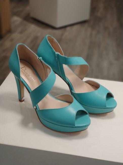 Sandalias verde agua - 1