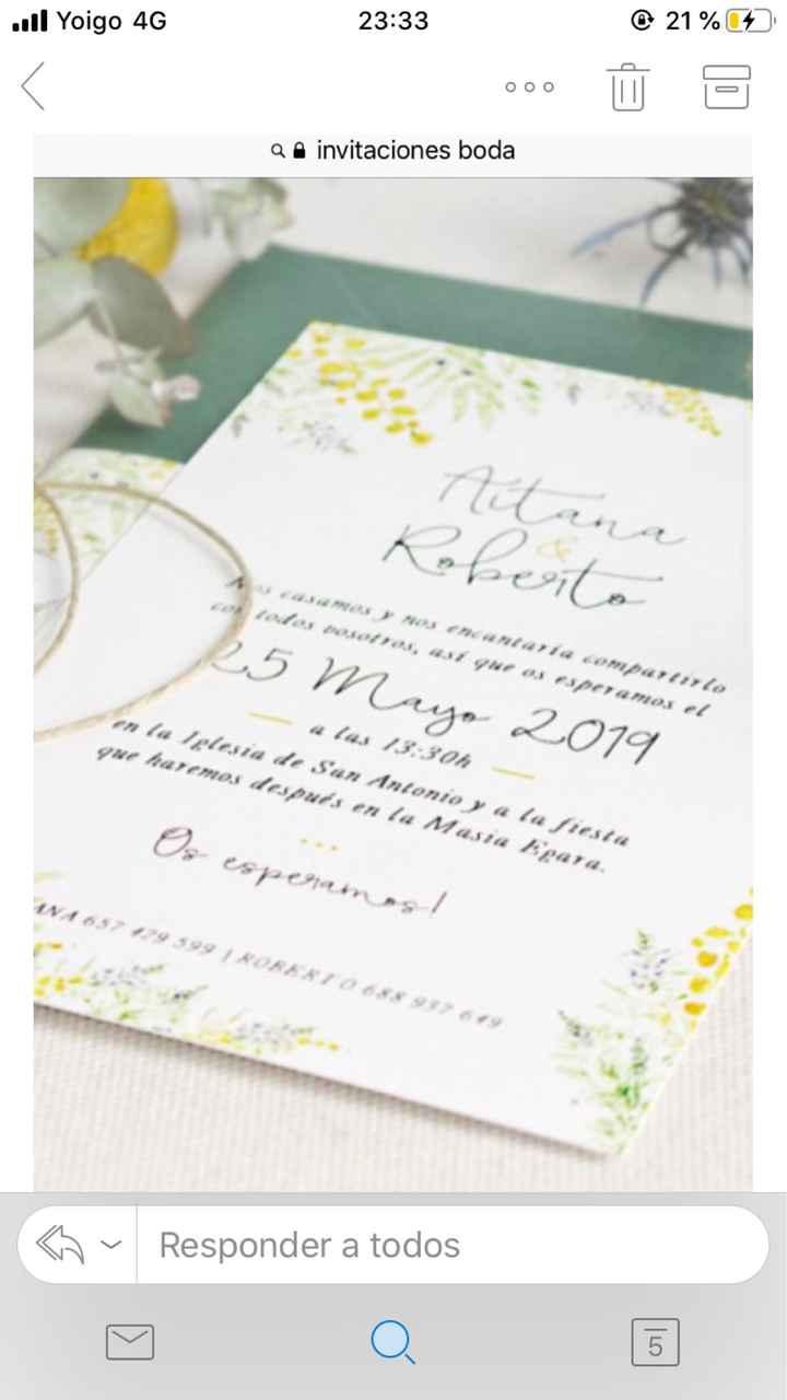 Invitaciones listas!!! - 1