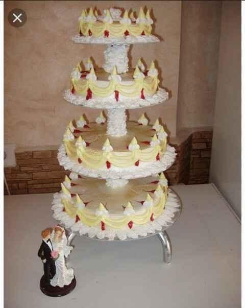 ¿que os parece poner una tarta falsa en la boda? - 1