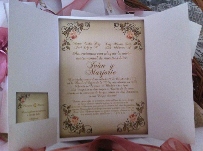 YA ESTAN LISTAS MIS INVITACIONES !!!!!