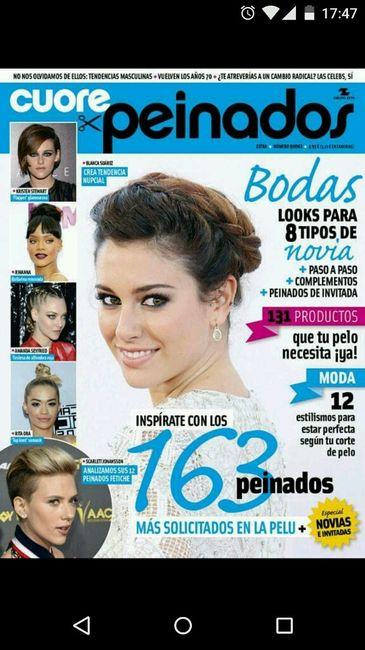 Revista peinados novia