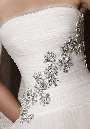 apliques para vestido en color plata - moda nupcial - foro bodas