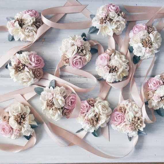 Pulseras de flores - 1