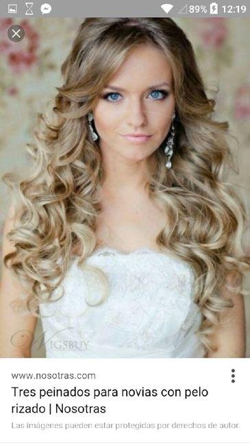 peinado de novia en pelo rizado