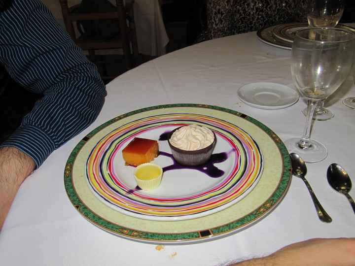 Prueba menú salón Viher - postre