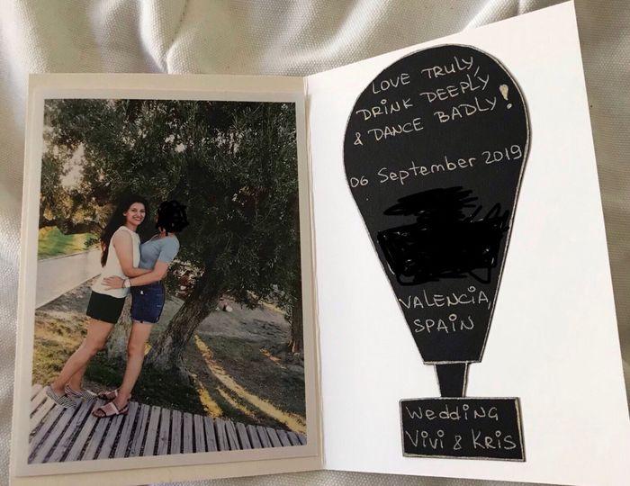 Invitación de boda original - 3