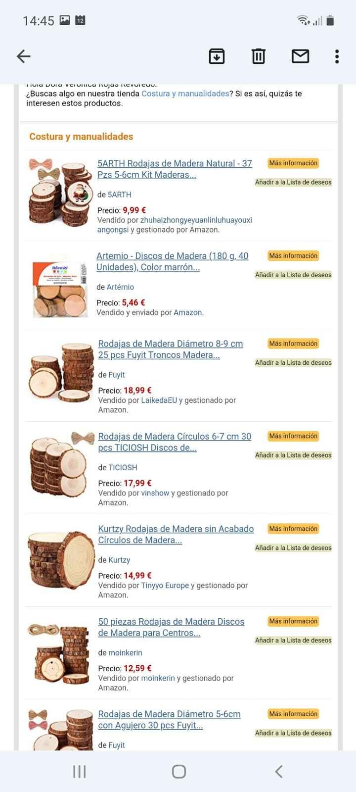 Rodajas de madera 25-30 cm - 1