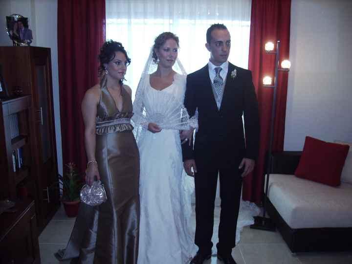 con mi hermano y mi cuñada