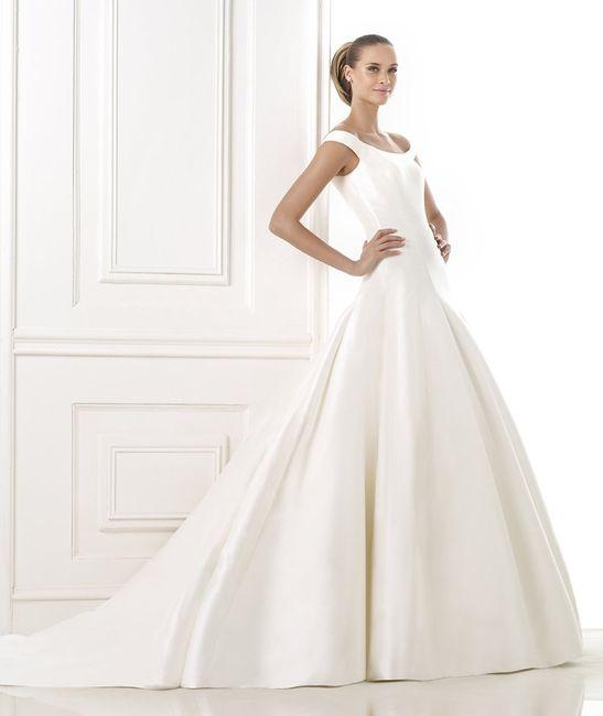 Vestido novia mikado