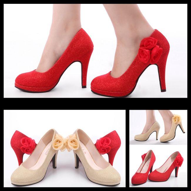 zapatos novia rojos - moda nupcial - foro bodas