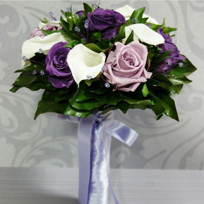 Pendientes color lila 2
