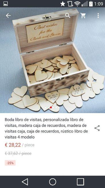 Corazones de madera como libro de firmas - 4