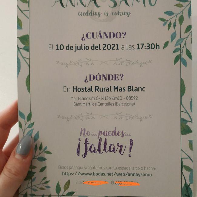 Invitaciones de boda con acuarela 2