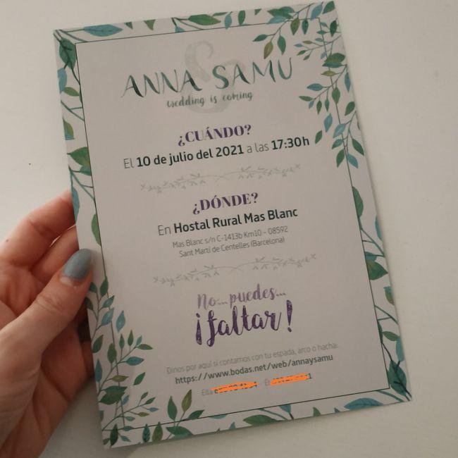 Invitaciones de boda con acuarela 1