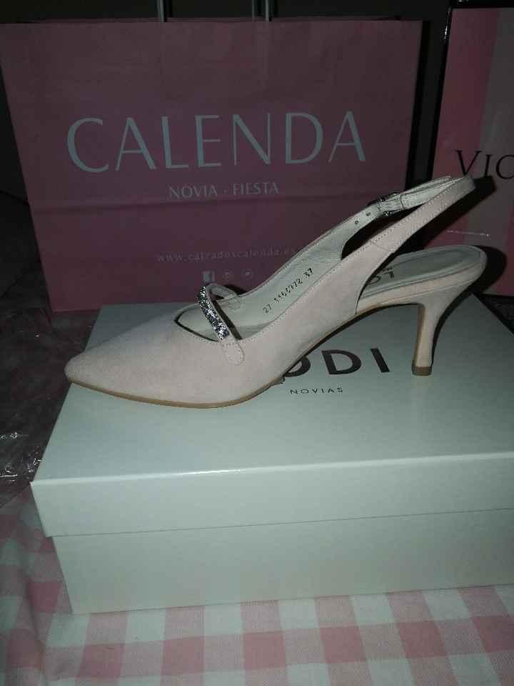 Zapatos rosa empolvado - 1