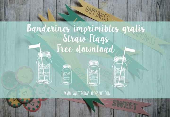 Tutorial banderines imprimibles para pajitas DIY