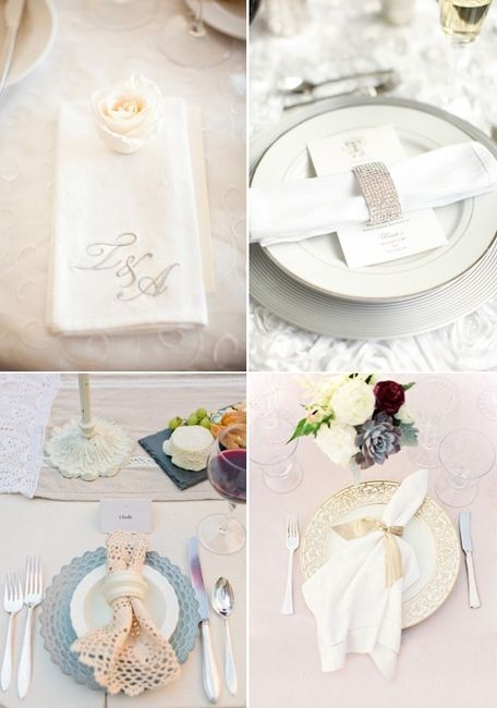 Decora las servilletas de tu boda organizar una boda - Cosas para preparar una boda ...