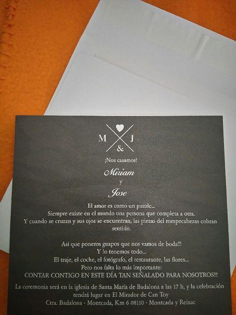 Invitaciones listas!!! - 2
