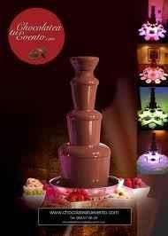Mi fuente de chocolate para la barra libreeee