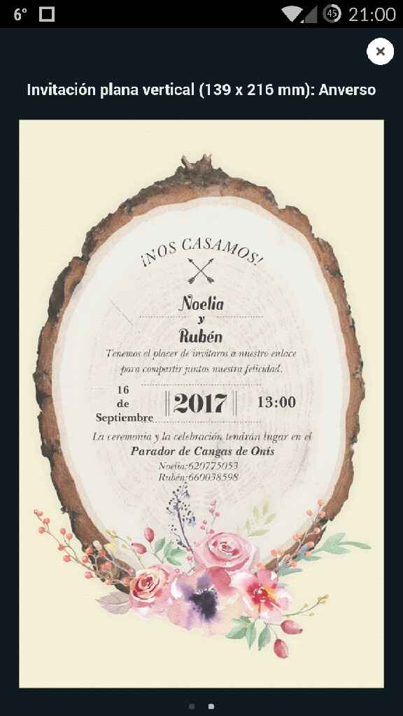 Invitaciones. - 1