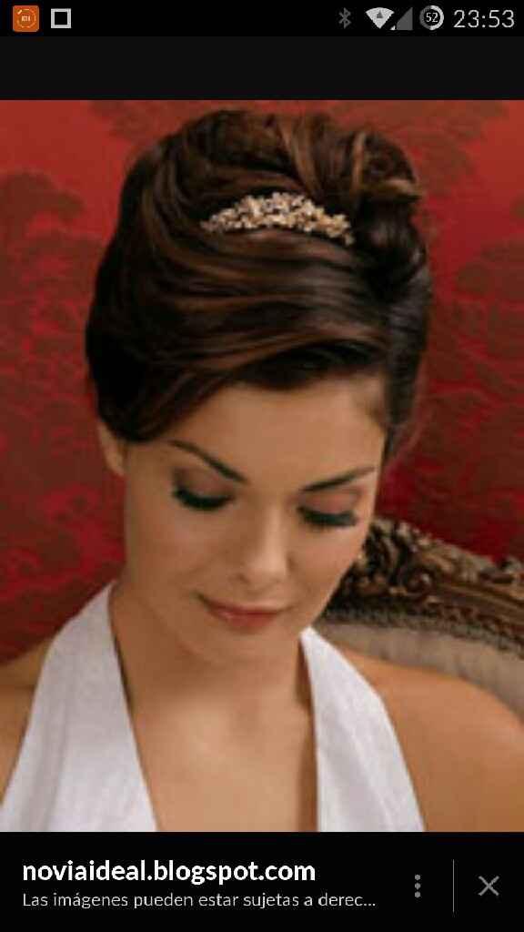 Peinados tiara y velo - 1