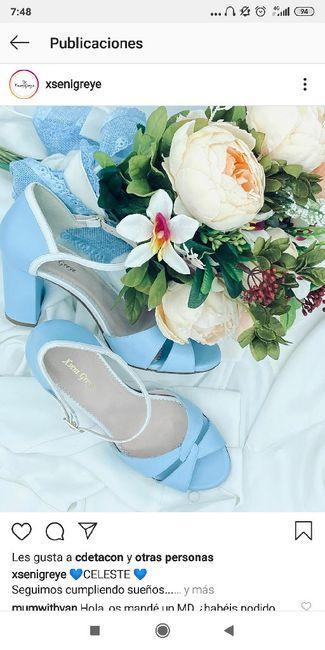 Zapatos celestes 8