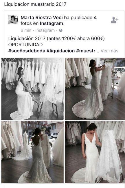 liquidación muestrario 2017 sueños de boda - cantabria - foro bodas