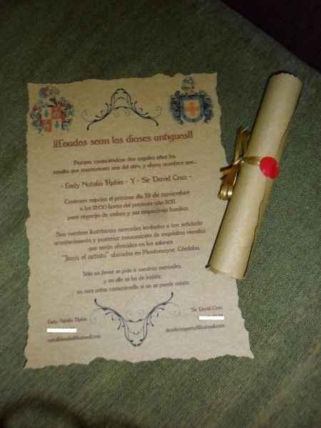 Invitacion Pergamino