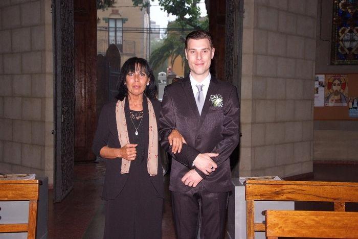 el novio y su madrina