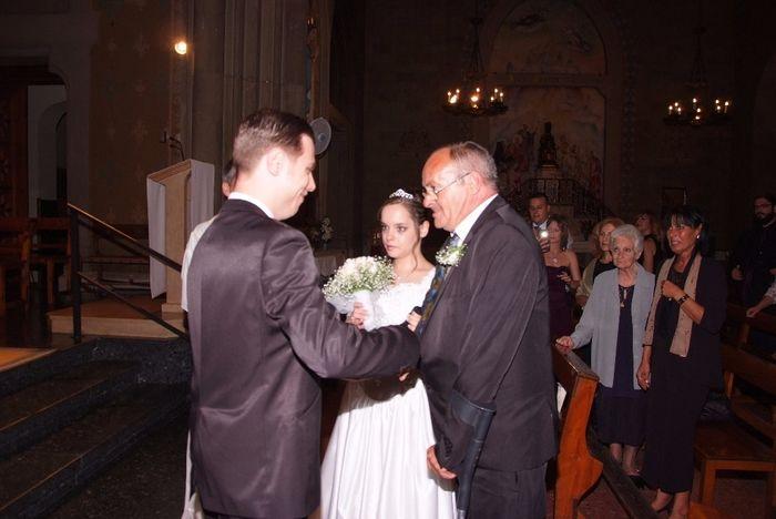 entregando a la novia
