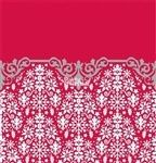 Mantel ornamental rojo