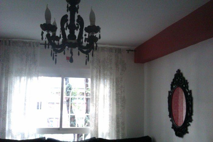 Mi lámpara y marco neobarrocos