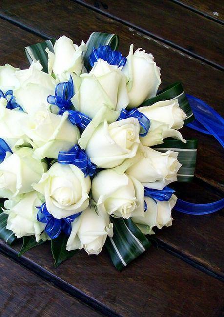 maquillaje y ramo azul - belleza - foro bodas