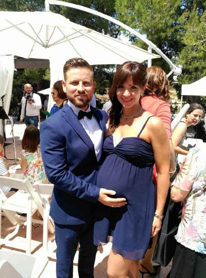 Vestido ivitada de boda embarazada - 1