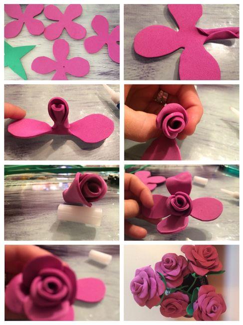 Plantillas Para Hacer Rosas De Goma Eva Flores de Papel