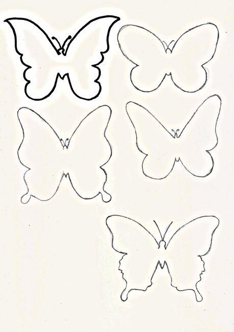 Plantilla de mariposa de agradecimiento - Manualidades - Foro Bodas.net