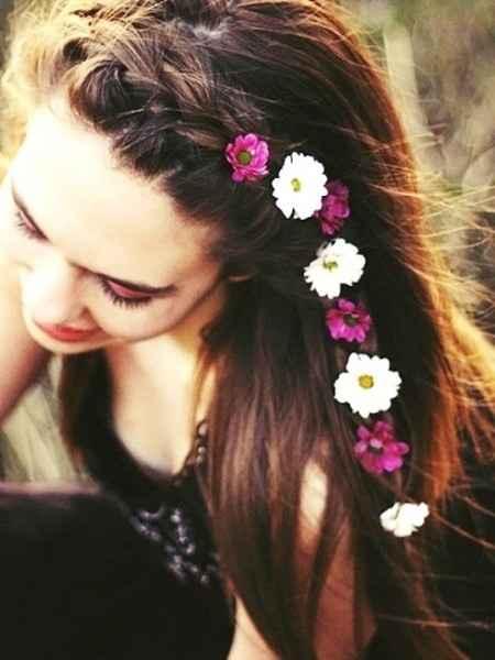 Trenza con florecitas