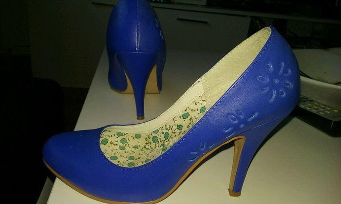 Zapatos de novia en azul - 1