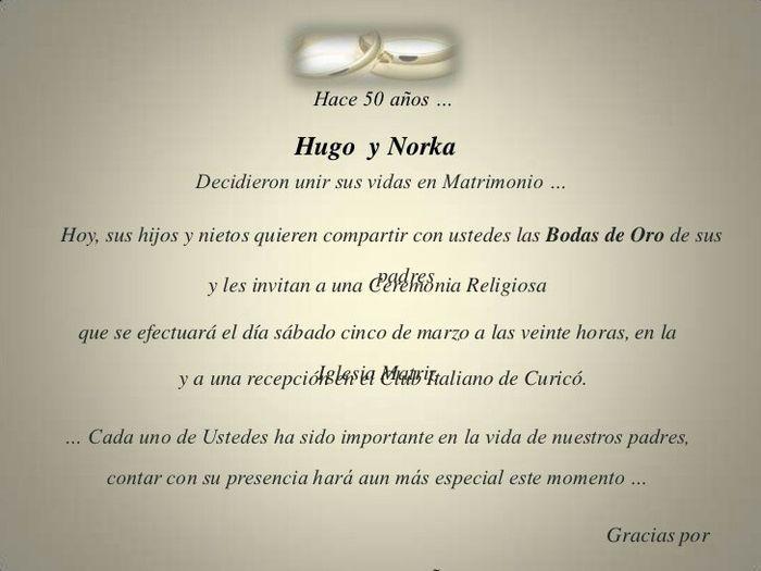 Frases De Aniversario En Espanol: Bodas De Oro! Invitaciones