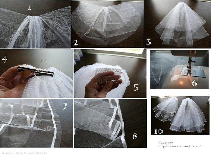 Como hacer un velo de novia.