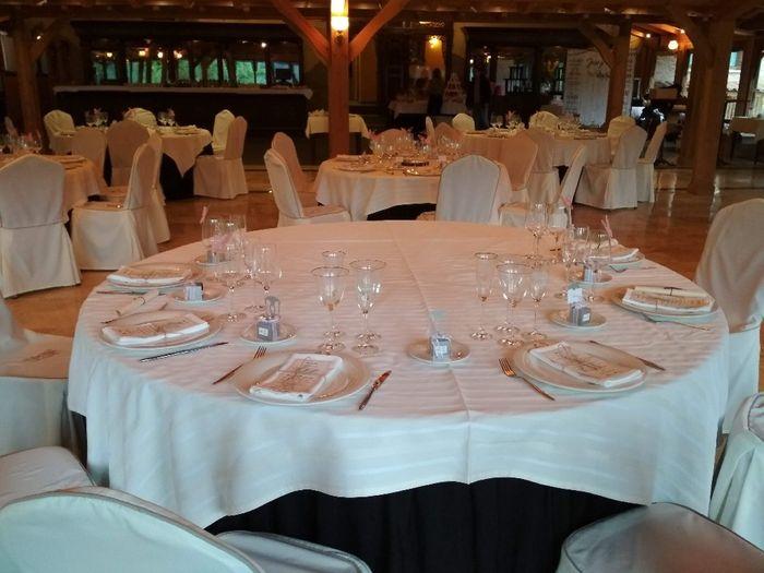 Nombre de invitados en las mesas 12