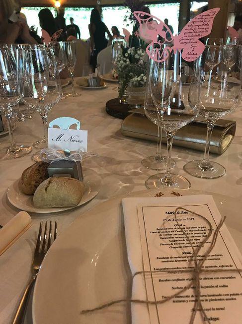 Nombre de invitados en las mesas 14